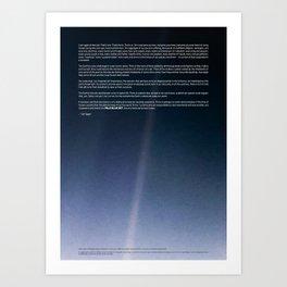Pale Blue Dot — Voyager 1 (2020 rev.), quote Art Print