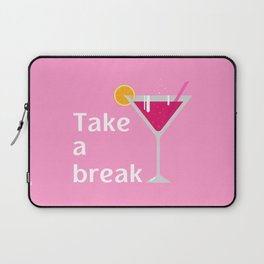 Pink cocktail Laptop Sleeve