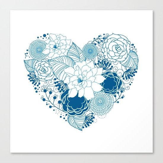 Color my heart Canvas Print