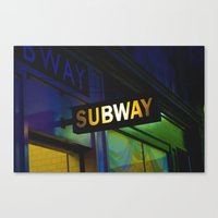 subway Canvas Prints featuring Subway by Mark Spence