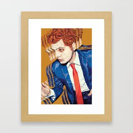 Gerard Way in Millions Framed Art Print