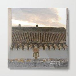 Danbo on rooftops  Metal Print