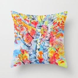 Flames of Autumn Throw Pillow