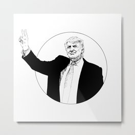 Trump Saint Metal Print
