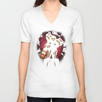 metroid V-neck T-shirts featuring Metroid by Casa del Kables