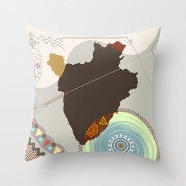 Burundi Stylized Throw Pillow