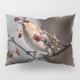 Cedar Waxwing Berry Flip Pillow Sham