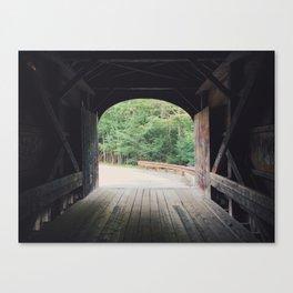 Covered Bridge at Windham, ME Canvas Print