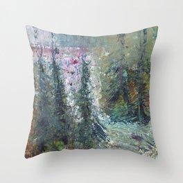 Cascade Falls Trail Throw Pillow