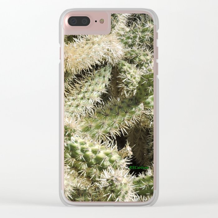 TEXTURES -- Munz's Cholla Clear iPhone Case