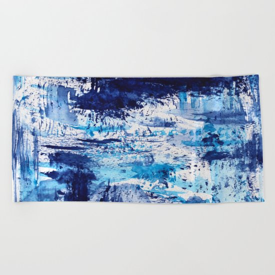 Blue passion || watercolor Beach Towel