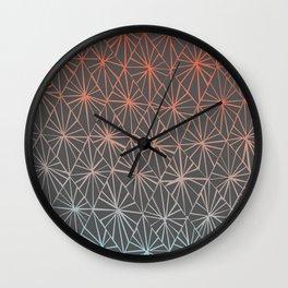 Gray Diamonds Wall Clock