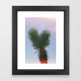 Heart Shaped Palm Framed Art Print