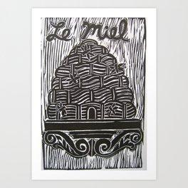 Le Miel Art Print