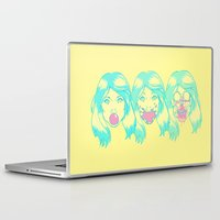 hot pink Laptop & iPad Skins featuring Hot Pink. by BAMBI ONASSIS