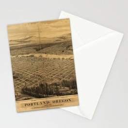 Aerial View of Portland, Oregon (1879) Stationery Cards