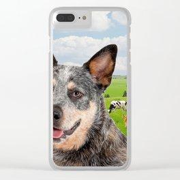 Australian Cattle Dog Blue Clear iPhone Case