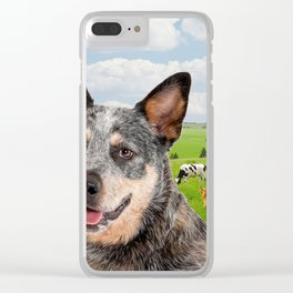 Australian Cattle Dog Blue Clear iPhone Case