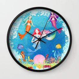 Mermaids and Pearls Wall Clock