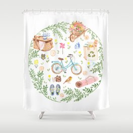 Eco city style Shower Curtain