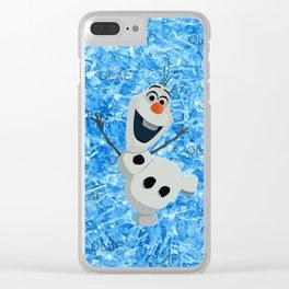 Olaf Snow Clear iPhone Case