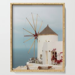 Oia Windmill Serving Tray