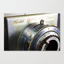 Vintage Camera - The Peace Collection Canvas Print