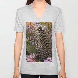 Banksia and Protea blooms Unisex V-Neck