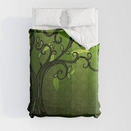 LEAVE - Summer Green Duvet Cover