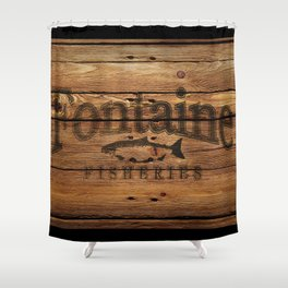 Fontaine Fisheries Crate Shower Curtain