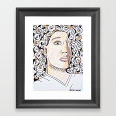 laurence with lotsa hair Framed Art Print