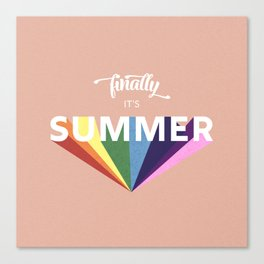 Finally it's Summer- retro typography Canvas Print