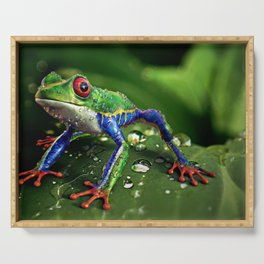 Frog Portrait Serving Tray