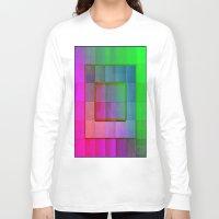aperture Long Sleeve T-shirts featuring Aperture #1 Fractal Pleat Texture Colorful Design by CAP Artwork & Design