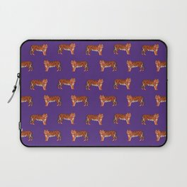 Tigers orange and purple clemson football fan varsity university college athletics Laptop Sleeve