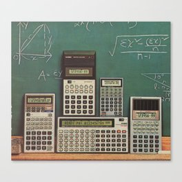 Casio Calculators...the good old days. Canvas Print