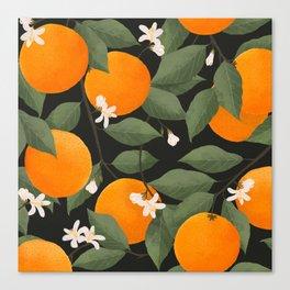 fresh citrus // dark Canvas Print