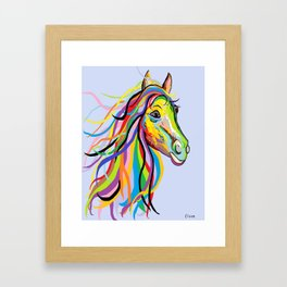 Horse of a Different Color Framed Art Print