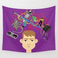 nerd Wall Tapestries featuring Nerd by Mouki K. Butt