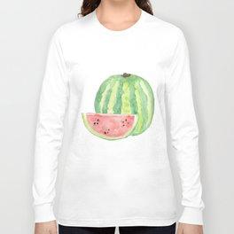 Watermelon Watercolour  Long Sleeve T-shirt