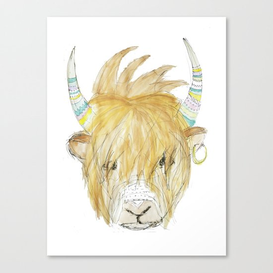 Yakety Yak Striped Illustration  Canvas Print