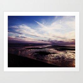 Blue Skies and Lavender Goodbyes Art Print