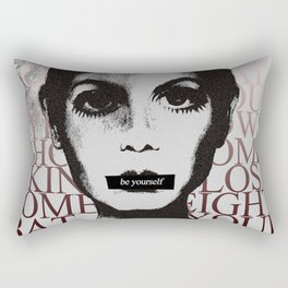 Be Yourself (Ft. Twiggy) Rectangular Pillow