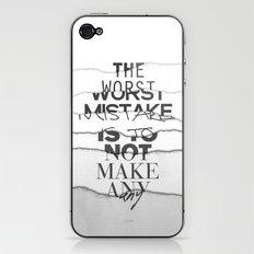 The Worst Mistake iPhone & iPod Skin