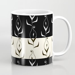 Art Deco No. 49. Block . Combined black and white pattern . Calla . Coffee Mug