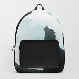 Howling wolf and blue moon Backpack