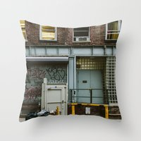 grafitti Throw Pillows featuring Grafitti Streets by Jillian VanZytveld