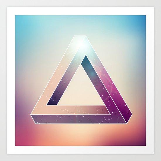 Penrose Triangular Universe Art Print