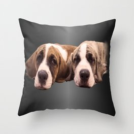 amore per i cani Throw Pillow