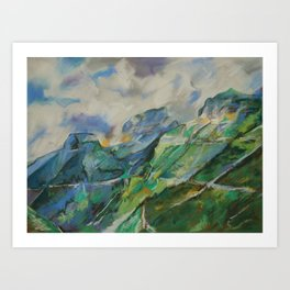 #34-Going to the Sun Road, Montana Art Print